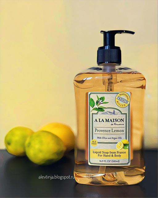 A La Maison de Provence, Liquid Soap For Hands & Body, Provence Lemon, 16.9 fl oz (500 ml)