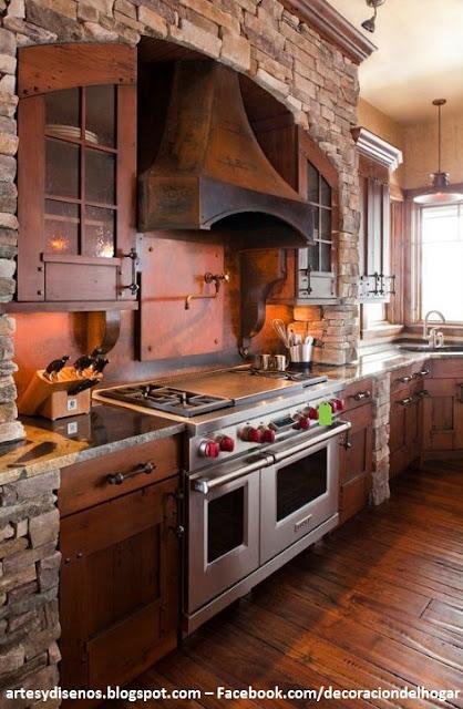 Cocinas con acabados de piedra decoraci n del hogar - Acabados de cocinas ...