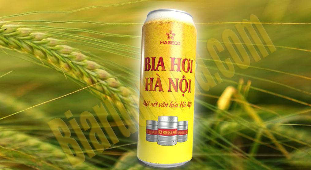 Thùng bia hơi Hà Nội đóng lon