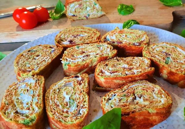 Roulé végétarien à la courgette sans gluten