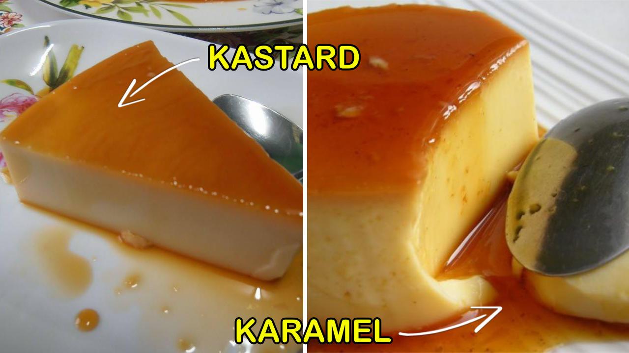 Resepi Puding Kastard Karamel