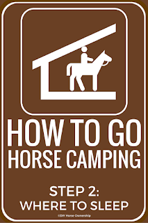 How to Go Horse Camping - Where to Sleep
