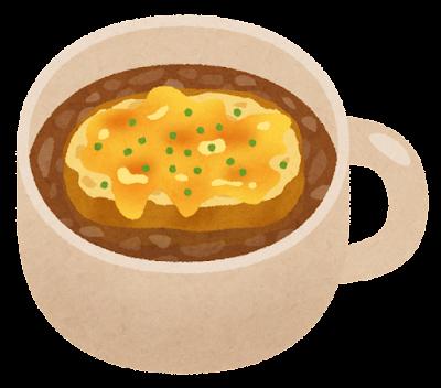 オニオングラタンスープのイラスト