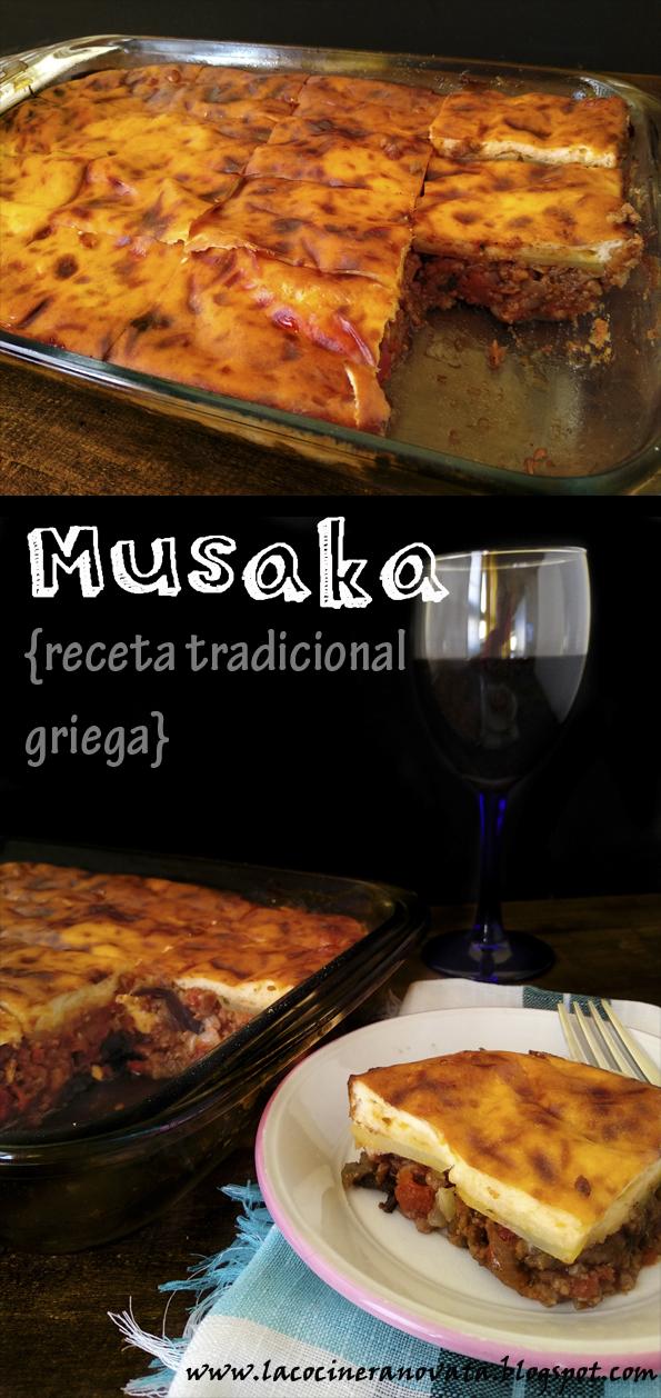 MUSAKA RECETA TRADICIONAL GRIEGA la cocinera novata tupper lunchbox moussaka receta cocina griega carne picada cordero ricotta yogur griego especias comfortfood