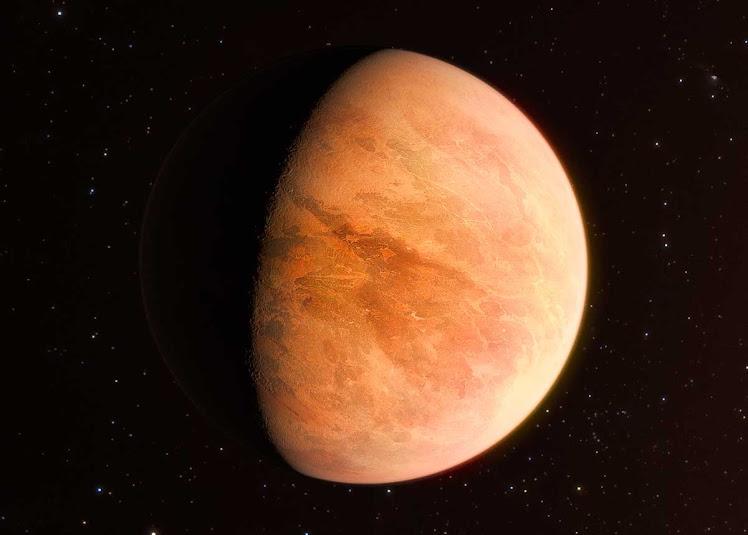 Novas observações revelam exoplaneta rochoso com metade da massa de Vênus