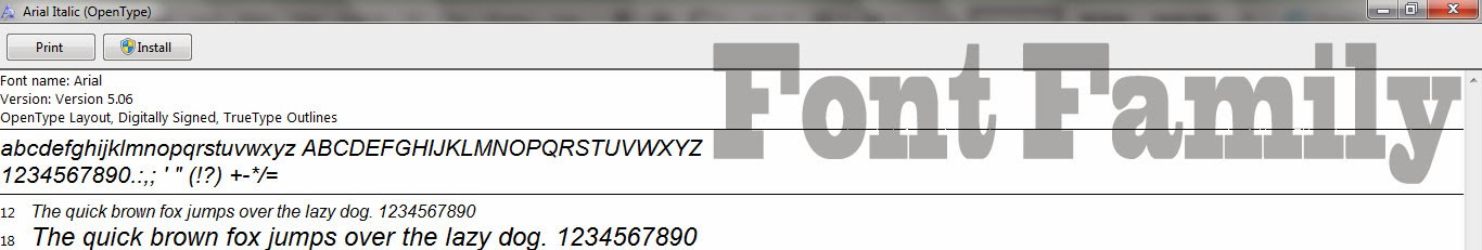 Font Family: October 2013