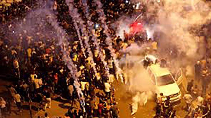 Les Libanais dans la rue pour une troisième journée American state manifestation