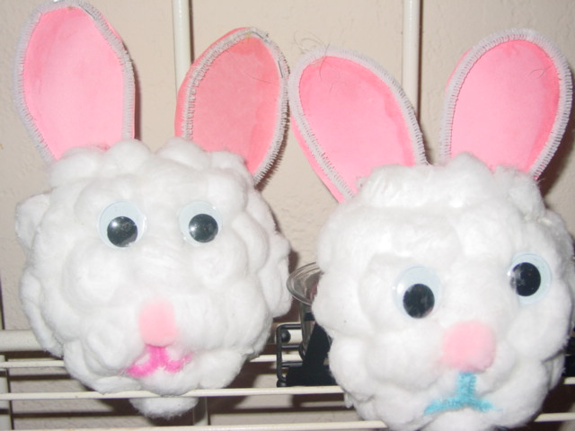 Easter Bunny Cotton Ball Craft Preschool Crafts For Kids