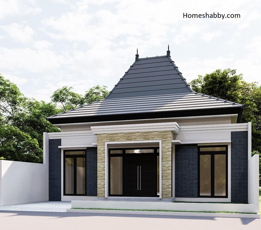 Desain Dan Denah Rumah Ukuran 12 X 14 5 M Dengan Eskterior Jawa Modern Yang Menarik Dan Berkelas Homeshabby Com Design Home Plans Home Decorating And Interior Design