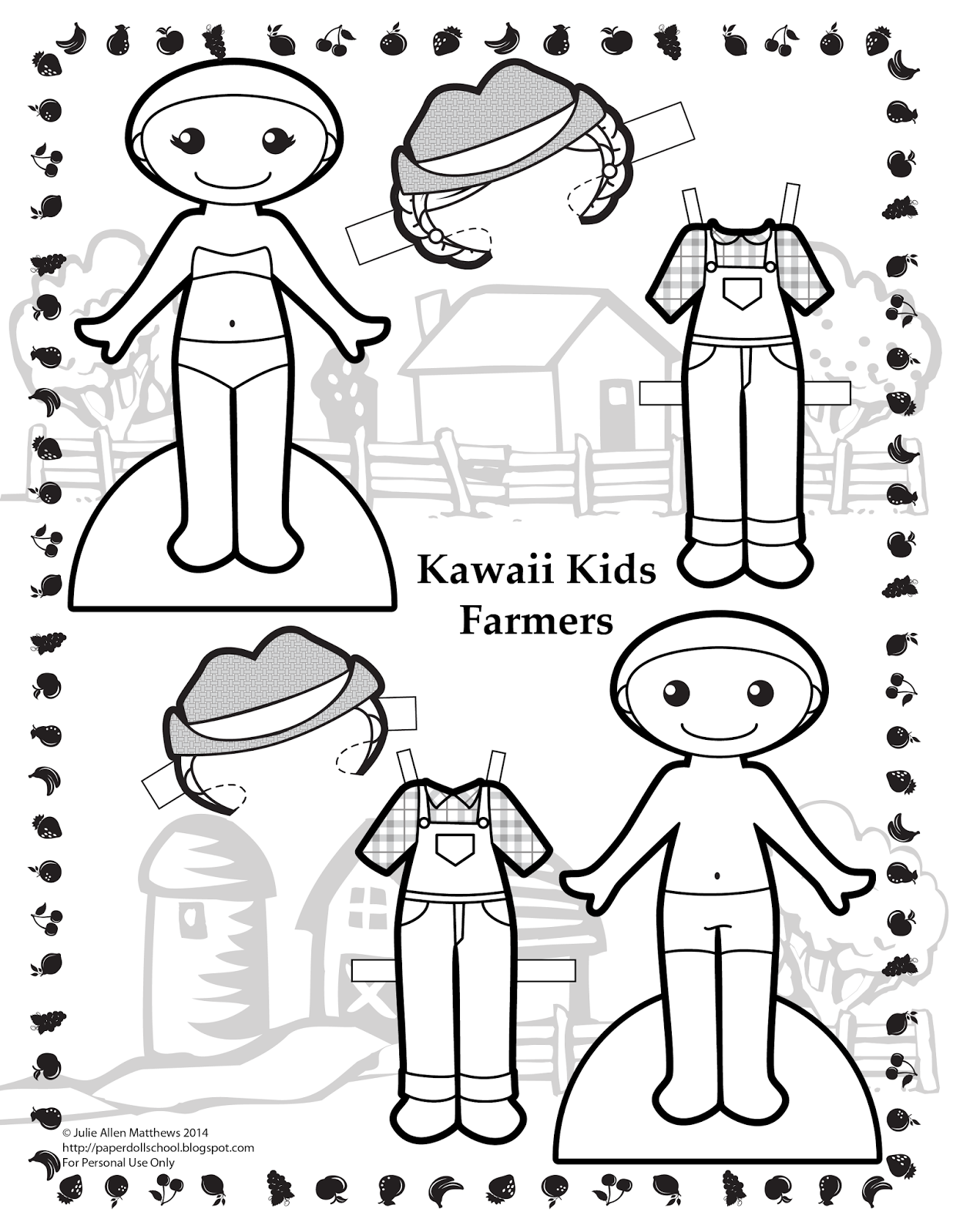 Paper Doll School Paper Doll Downloads