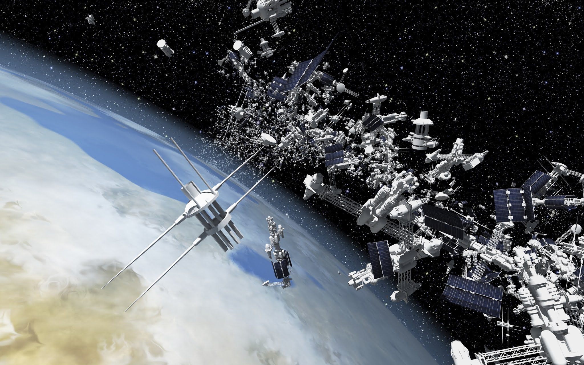 A sea of dead satellites and debris creates an impenetrable capsule around the Earth / Digital Information World