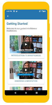 Screenshot of UCLA Mindful meditation app