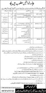 ATS Jobs 2020 Application Form, Wildlife Department KPK Advertisement