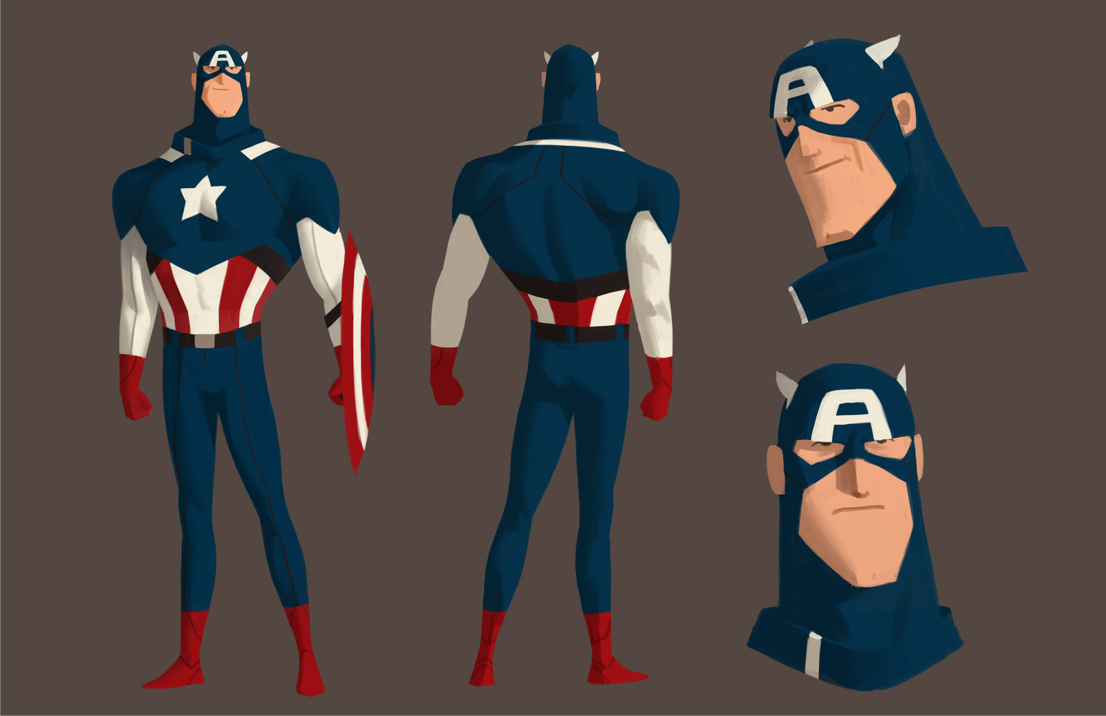 Captain America Cartoon Images: Fashion And Action: Avengers & Animated Captain America