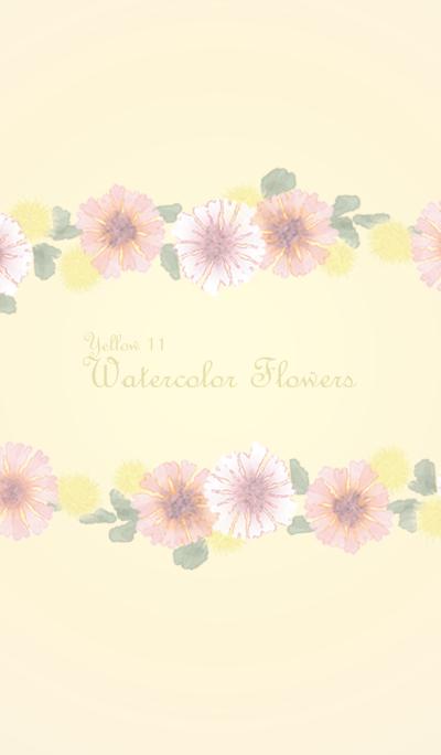 Watercolor Flowers[Cornflower]/Yellow11