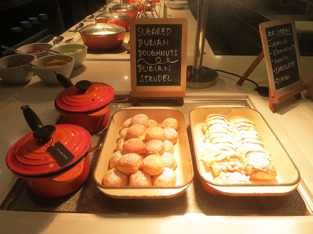 durian doughnuts and durian strudels