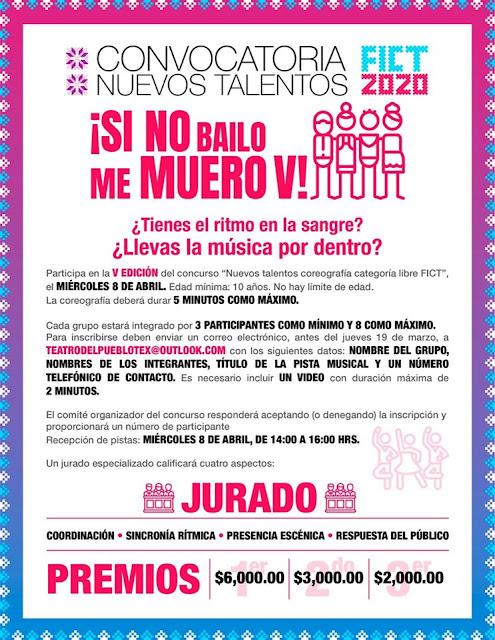 convocatoria concurso de baile feria texcoco 2020