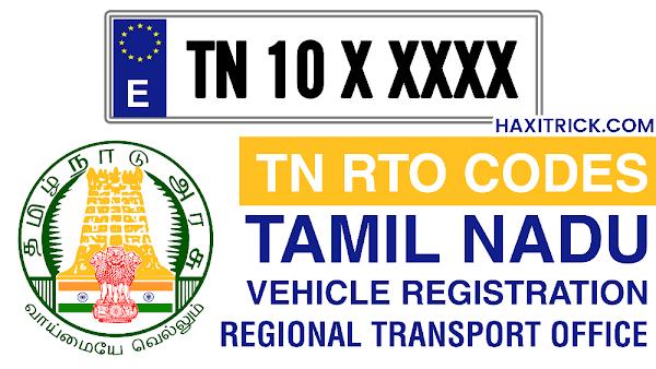 Tamilnadu TN RTO Codes List