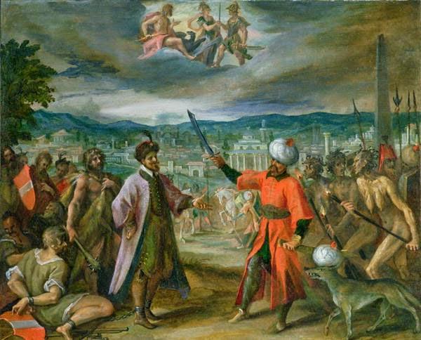 Alegoria das Guerras Turco - Hans Von Aachen e suas pinturas ~ Um grande pintor do estilo maneirista