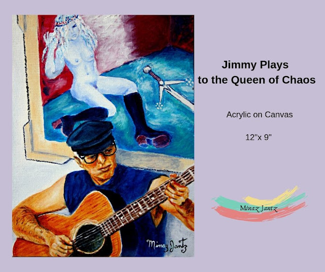 Jimmy Plays to the Queen of Chaos by Minaz Jantz