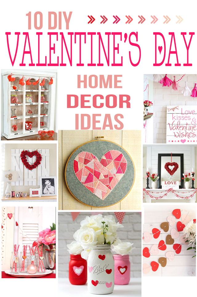 garlands and all sorts of crafts to invite Valentines day in your home