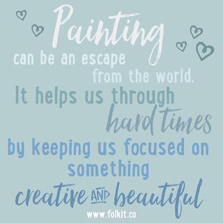 Allow painting to distract you from every day life and focus on something beautiful #quote #mindfulness