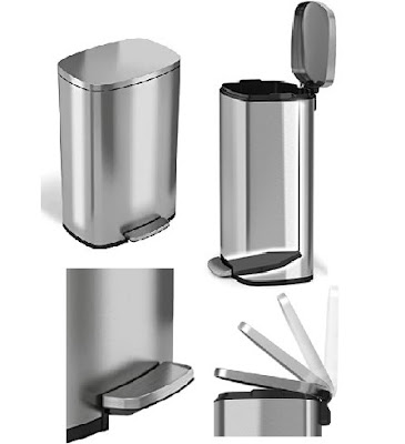 iTouchless Trash Can - Pedal Step Garbage Bin with Fingerprint-proof - Kitchen Items