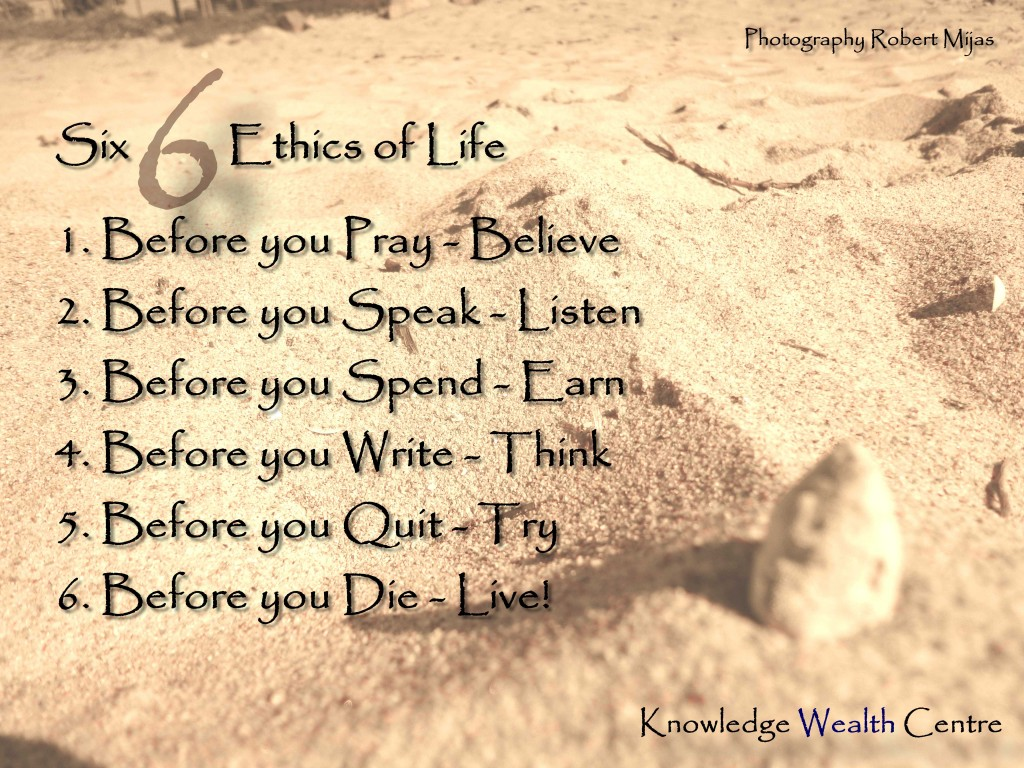 an instructors learning journey six ethics of life