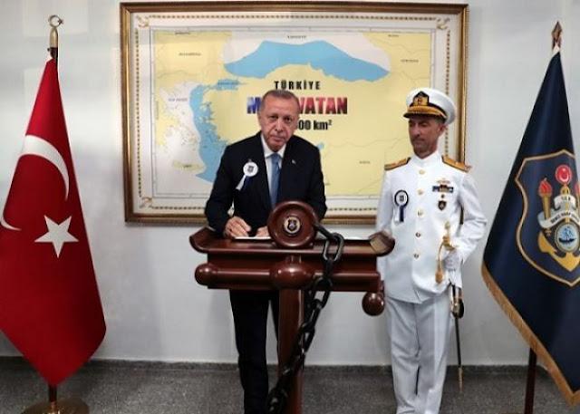Ο Ερντογάν αρμενίζει στη «Γαλάζια Πατρίδα»