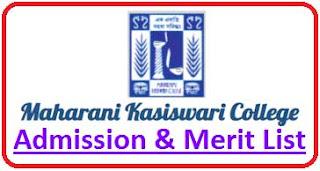 Maharani Kasiswari College Merit List