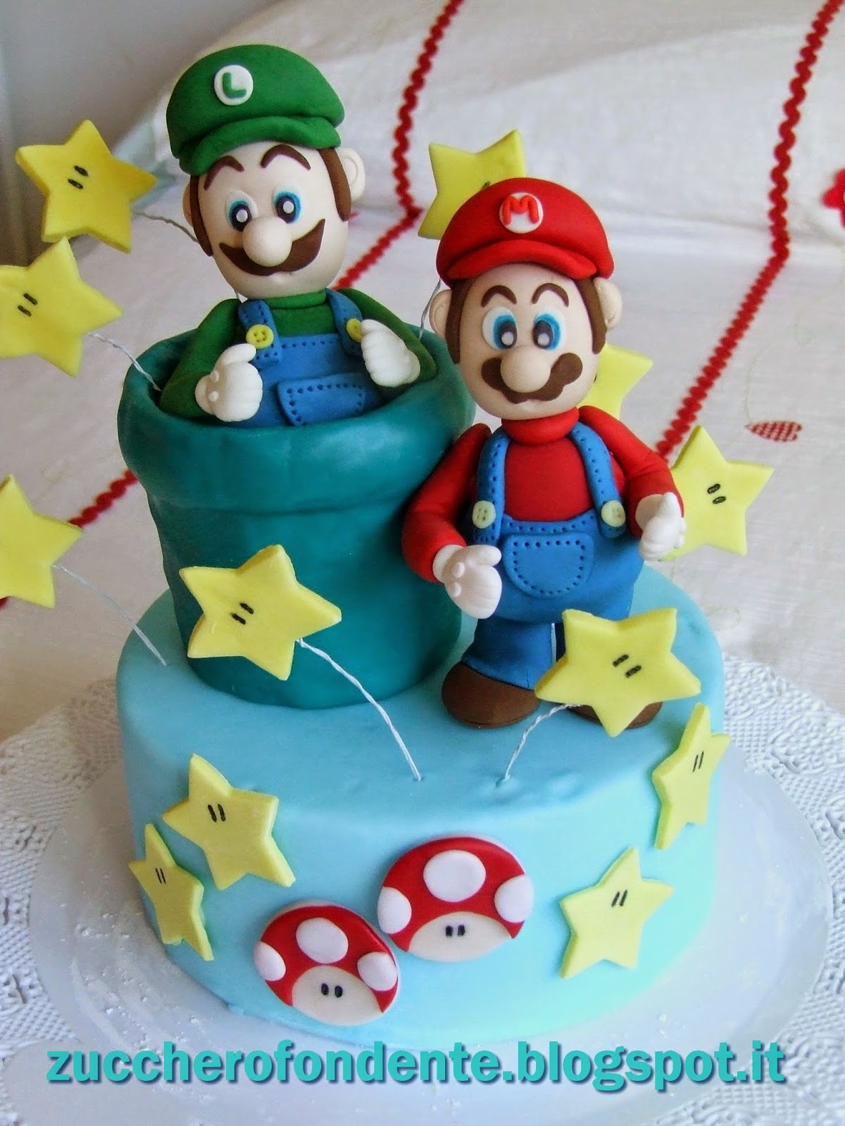 zuccherofondente Torta Super Mario e Luigi