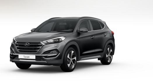 colori Nuova Hyundai Tucson 2016 Grigio Scuro - Thunder Grey davanti frontale