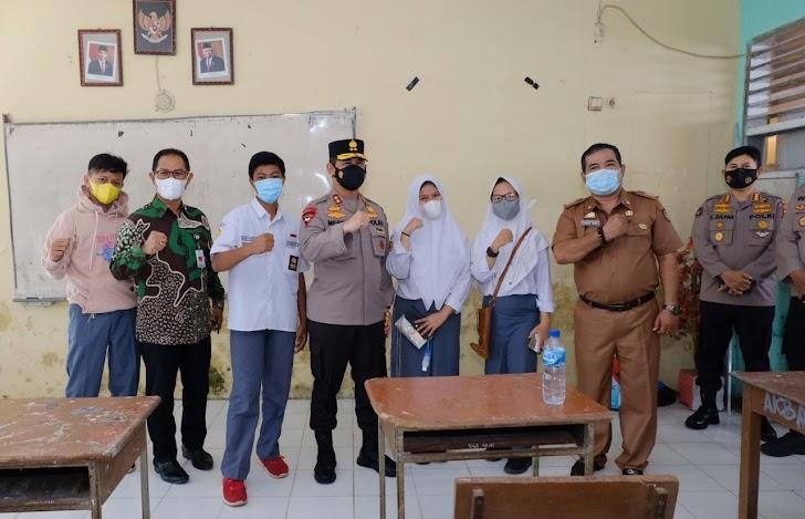 Diknas Kerja Sama Polda Sulsel Gelar Launching Road Show Vaksinasi Pelajar