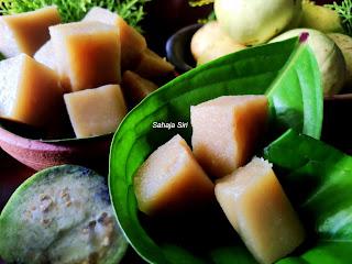 Guava Corn flour halwa