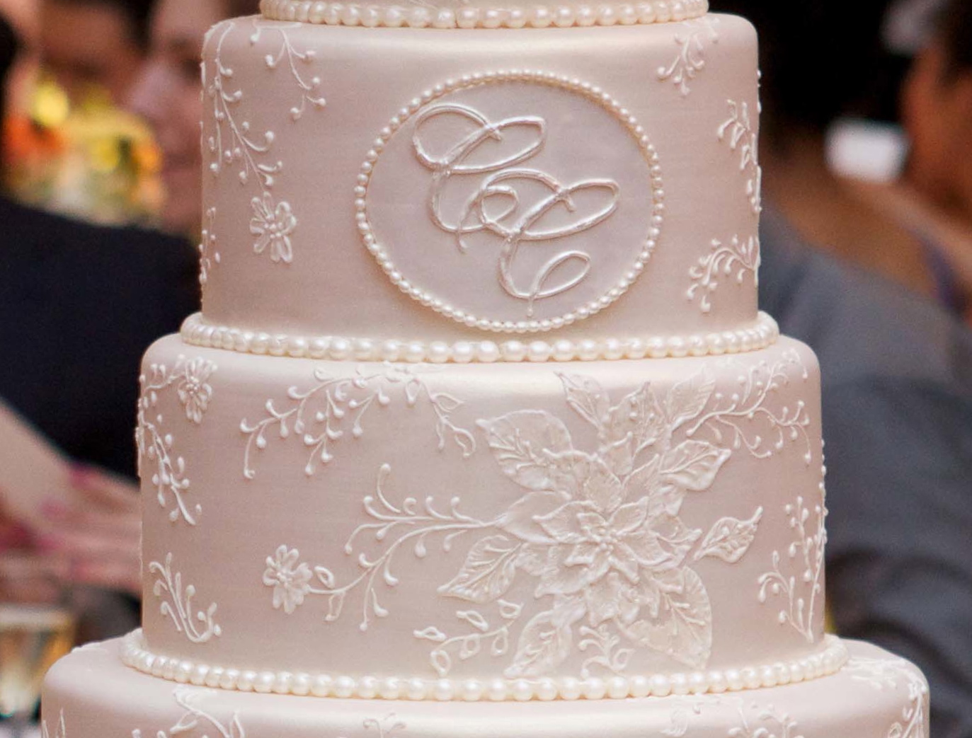 wedding cake with monogram for the of cake by garry amp parzych a 26927