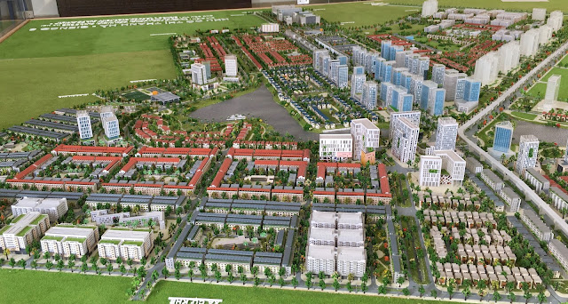 Phối cảnh tổng thể dự án Thanh Hà Cienco 5 Hà Đông