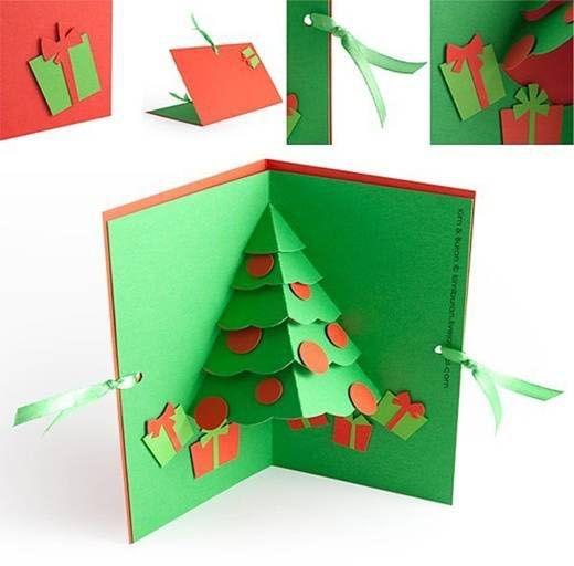 C mo hacer una tarjeta de navidad en 3d - Como hacer targetas de navidad ...
