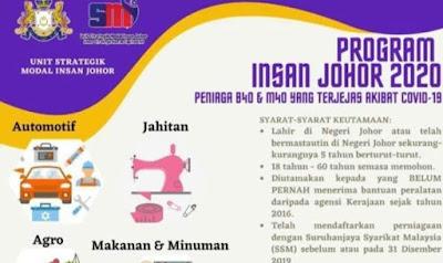 Permohonan Program Insan Johor 2020 Online (Semakan Status)