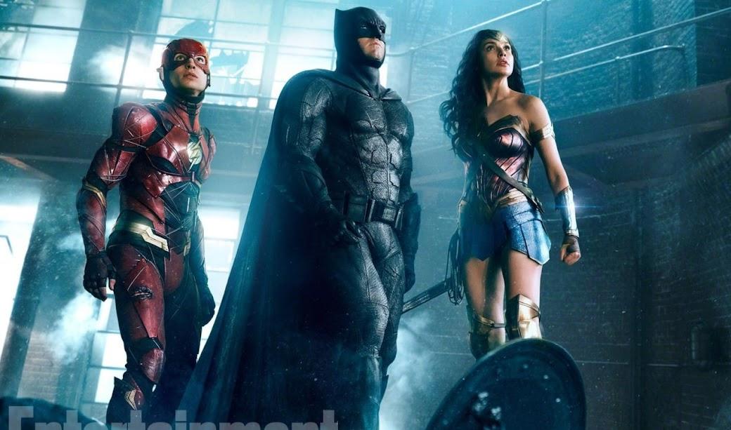 Liga da Justiça | Flash, Batman e Mulher Maravilha estampam imagem inédita