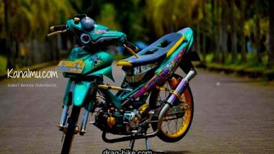 Modifikasi drag zombi motor Jupiter Z