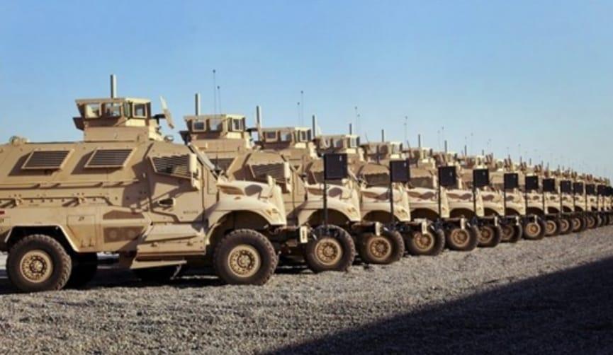 مدرعات امريكيه لحمايه بغداد