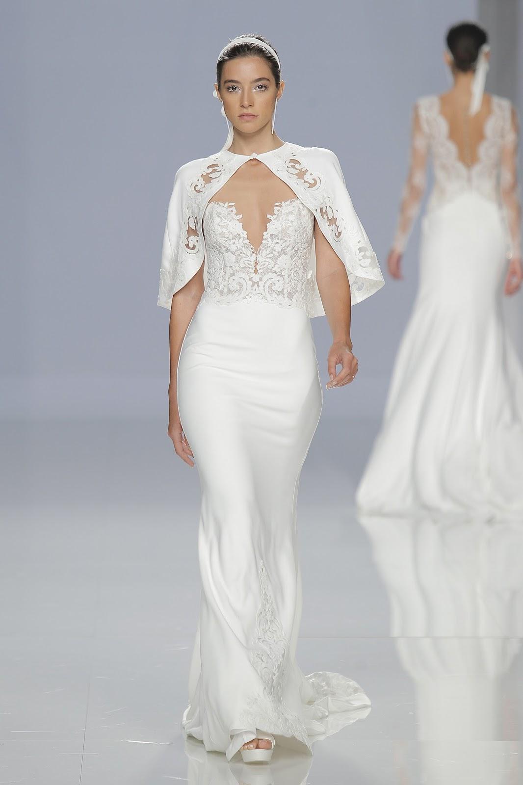vestido de noiva com capa passarela
