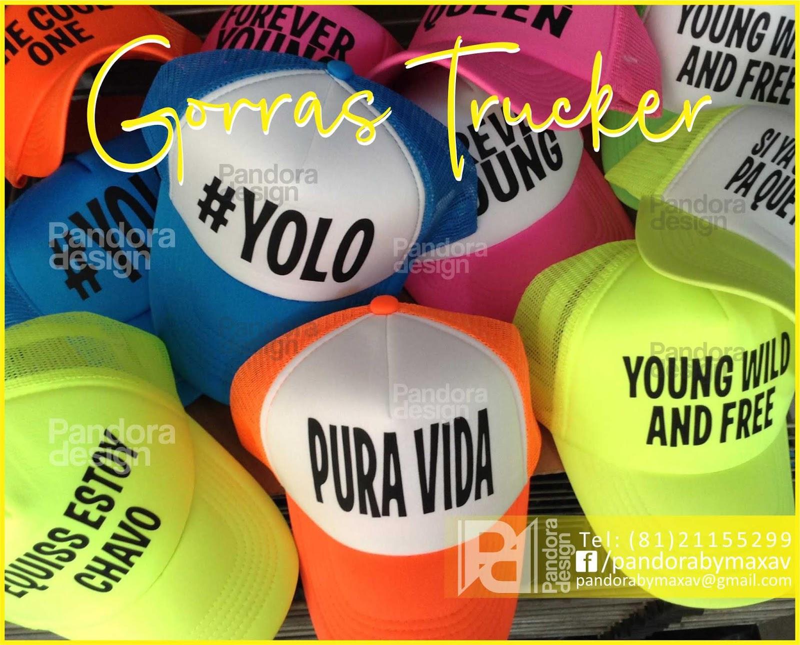Gorras Personalziadas Con Frases Para Eventos Pandora