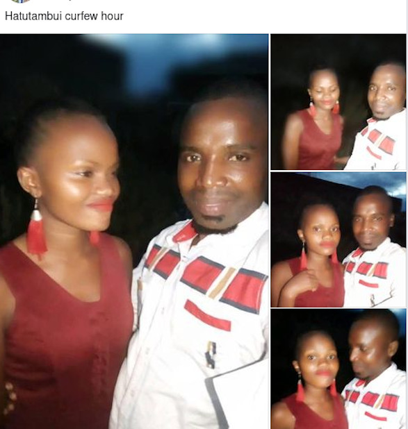 George Mutiso alias Nesh Vine with one of the popular ladies