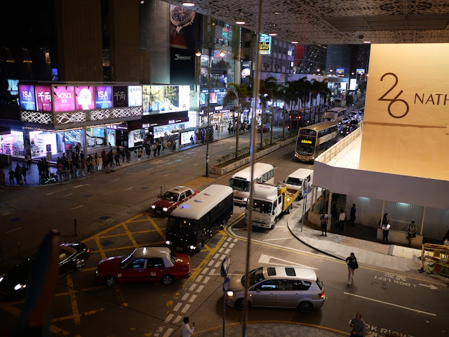 police vehicles on Hong Kong street