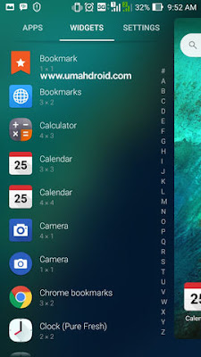 Menambah Widget ke Homescreen Smarphone