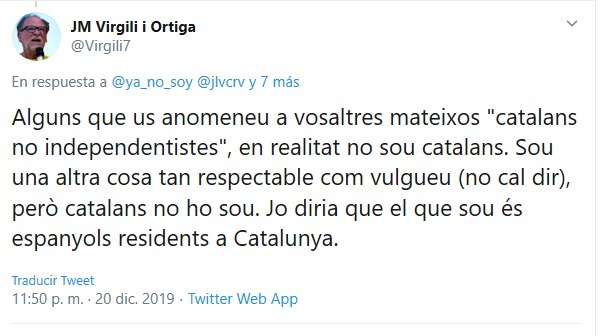 la intolerància que està infestant Catalunya, Virgili i Ortiga