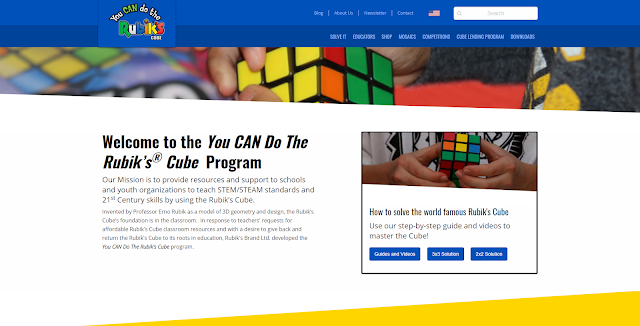 You Can Do The Rubik's Cube official website screenshot homepage