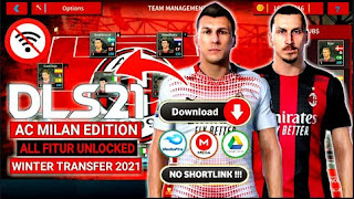 Download Dream League Soccer Special AC Milan Edition New Update Kits & Winter Transfers