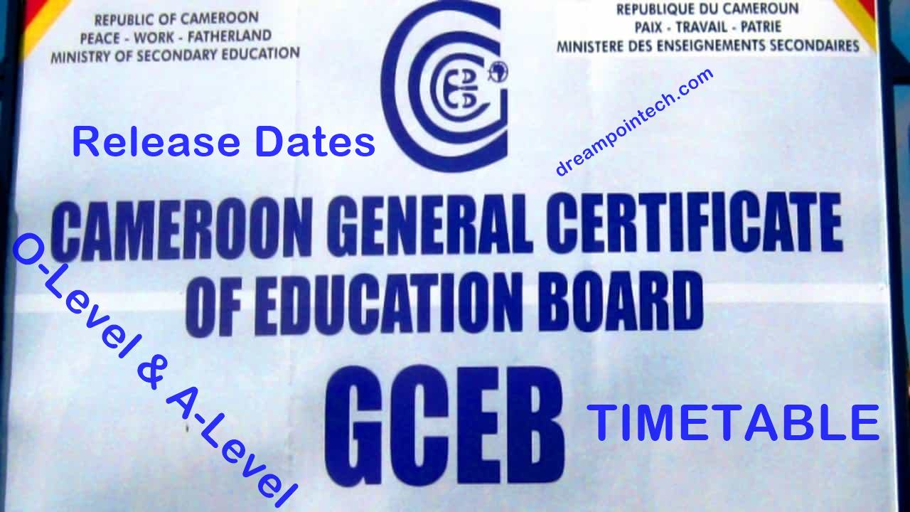 Cameroon GCE Board Timetable 2021 Release Date